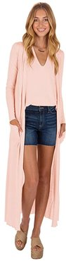 Reed Duster Cardigan (Coral Pink) Women's Sweater