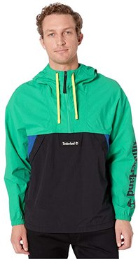 Windbreaker Pullover Jacket (Deep Mint/Black) Men's Coat