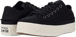 Chuck Taylor All Star Espadrille - Ox (Black/White/Natural) Women's Shoes