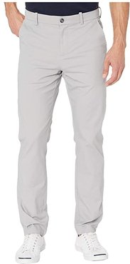 Slim Fit Stretch Wrinkle Free Soft Chino (Alloy) Men's Casual Pants