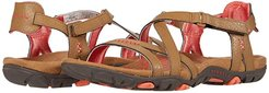 Sandspur Rose Leather (Tobacco/Coral) Women's Shoes