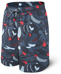 Cannonball 2N1 Long (Navy Fish) Men's Underwear