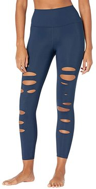 7/8 Ripped Warrior (Rich Navy) Women's Casual Pants