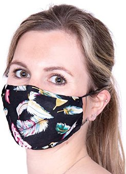 Face Mask (Feather Black) Scarves