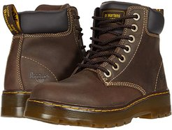 Winch Service 7-Eye Boot (Dark Brown Wyoming) Men's Work Lace-up Boots