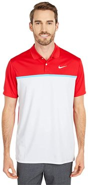 Dry Victory Polo CB (University Red/Pure Platinum/White) Men's Clothing