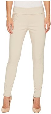 Control Stretch Pull-On Ankle Pants with Back Slit Detail (Chino) Women's Casual Pants