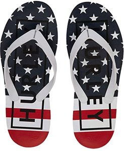 One Only Printed Sandals (White/Gym Red) Men's Shoes