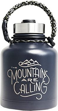Mountains Are Calling 32 oz Stainless Steel Growler (Navy) Individual Pieces Cookware