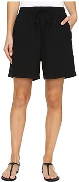 Jersey Shorts (Black) Women's Shorts
