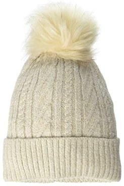 Classic Cable Pom Hat (Oat) Beanies