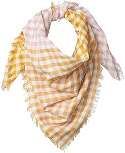 100% Cotton Woven Square Gingham Scarf (Arrowwood) Scarves