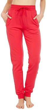 Fleece Tapered Sweatpants (Flag Red) Women's Pajama