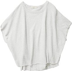 Cashmere French Terry Poncho Sweatshirt Tee (Ash Heather) Women's Clothing