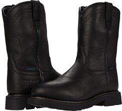 Sierra Waterproof Soft Toe (Black) Men's Work Pull-on Boots