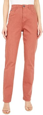 Solid Cool Twill Suzanne Straight Leg in Paprika (Paprika) Women's Jeans
