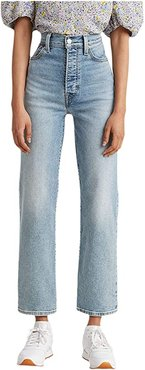 Ribcage Straight Ankle (Worn Out) Women's Jeans