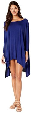 Brynn 3/4 Sleeve Tunic Cover-Up (Midnight) Women's Dress