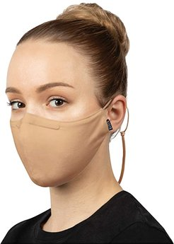 Soft Stretch Face Mask w/ Moldable Nose Pad and Lanyard 3-Pack (Sand) Scarves