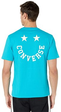 Happy Face Graphic Tee (Rapid Teal) Men's T Shirt
