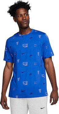 NSW Short Sleeve Core All Over Print Tee (Game Royal) Men's Clothing