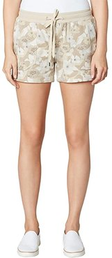 Pull-On Knit Shorts with Porkchop (Sand Flower Camo Print) Women's Shorts