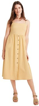 Texture Thread Cami Button Front Midi Dress (Sundried Wheat) Women's Dress