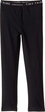 Leggings (Toddler/Little Kids) (Black) Girl's Casual Pants
