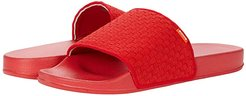 Woven Lounge Pool Slide (Red) Men's Shoes