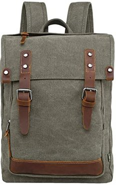 Discovery Canvas Backpack (Olive) Backpack Bags
