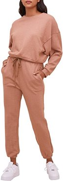 Staying in Sweatpants (Washed Clay) Women's Casual Pants