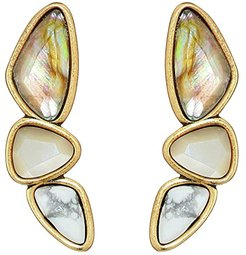 Ivy Climber Earrings (Vintage Gold White Mix) Earring