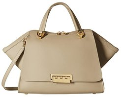 Eartha Iconic Jumbo Double Handle (Beige) Satchel Handbags