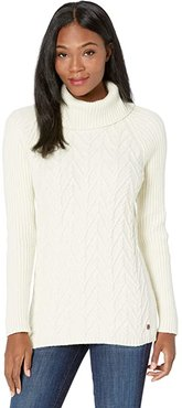 Frost Cowl Neck II (Creme) Women's Sweater
