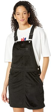 Comfy Chords Dungaree Dress (Black) Women's Clothing