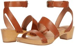Alexa Ankle Strap Clog (Burnished Caramel) Women's Shoes