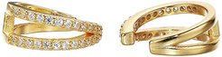 2 Row Pave Earrings Cuff (Gold) Earring