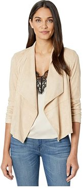 Suede It Out Super Soft Faux Suede Jacket (Tan) Women's Clothing