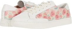 Washed Floral Ibiza Sneaker (White) Women's Shoes