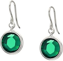 Swarovski Color Code Earrings (May/Emerald Color/Shiny Silver) Earring