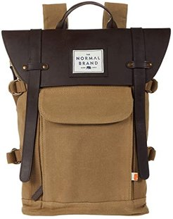 Top Side Leather Backpack (Tan) Backpack Bags