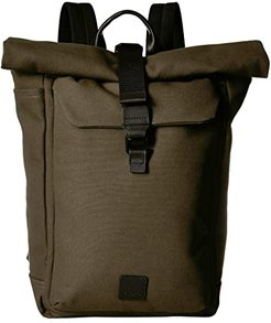 Fulham Novello Roll Top Backpack (Forest Green) Backpack Bags