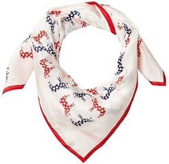 Change Your Stripes Silk Square (White) Scarves