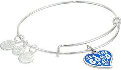 Barbie Charm Bangle Bracelet (Silver/See the Good In All Things) Bracelet