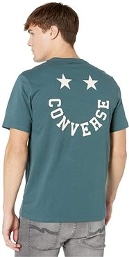 Happy Face Graphic Tee (Faded Spruce) Men's T Shirt