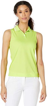 Dry Victory Sleeveless Polo Solid (Cyber/White/White) Women's Clothing