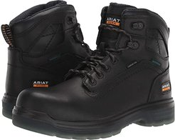 Turbo 6 Waterproof Carbon Toe Work Boot (Black) Men's Work Lace-up Boots