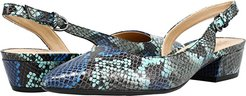 Banks (Blue Multi Snake) Women's 1-2 inch heel Shoes