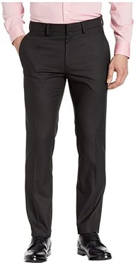 Stretch Shadow Check Slim Fit Dress Pants (Black) Men's Casual Pants