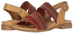 Dacey (Luggage/Red Multi M-Vege/Striped Elastic) Women's Shoes